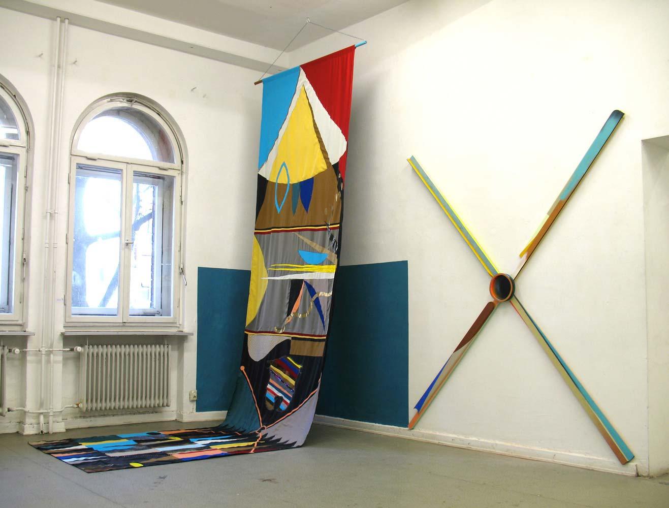 Grit Richter Installation Wallpainting Textile Art
