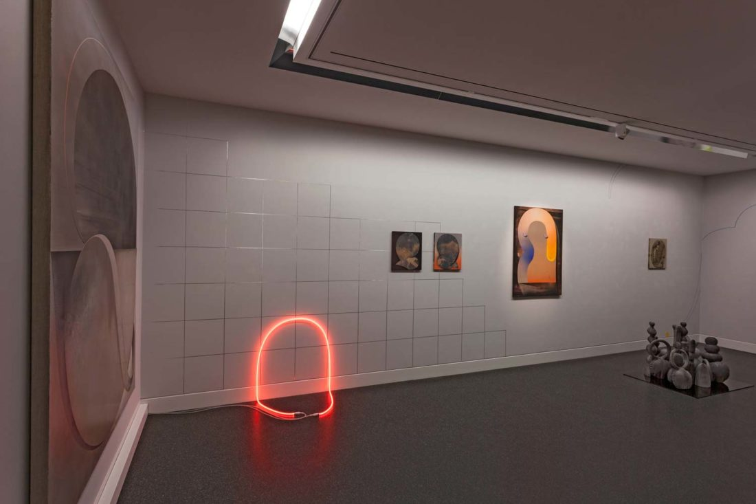 Grit Richter Installation Neon sculpture painting wallpainting