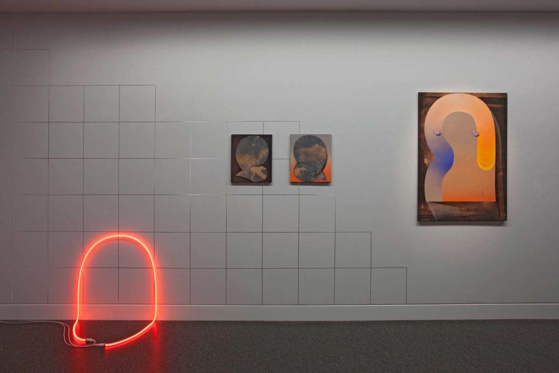 Grit Richter Installation Neon sculpture painting wallpainting
