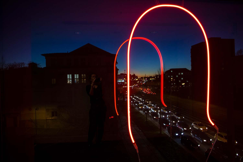 Grit Richter Neon Sculpture